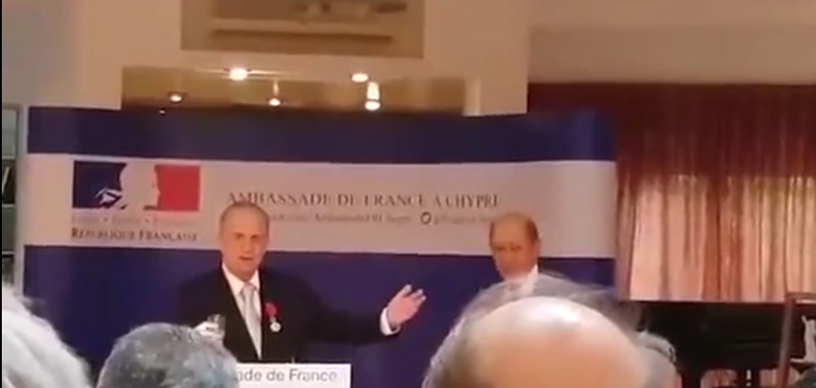 French Foreign Minister bestows Dr Kasoulides with Legion of Honour